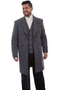 Wah Maker Frock Coat - Heather Grey - Men's Old West Vests And Jackets | Spur Western Wear
