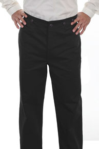 Wah Maker Herringbone Pant - Black - Men's Old West Pants | Spur Western Wear