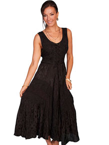Scully Honey Creek Lace Front Dress - Black - Ladies' Western Skirts And Dresses | Spur Western Wear