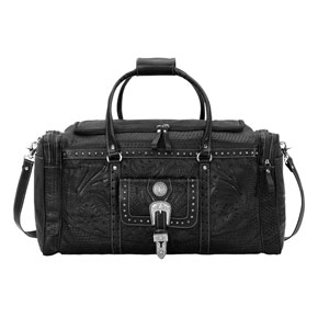 American West Retro Romance Leather Western Rodeo Bag - Black - Western Luggage | Spur Western Wear