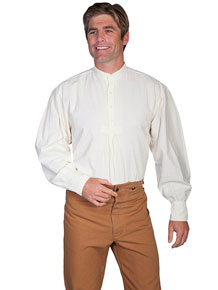 Scully Pleated Front Pullover Old West Shirt – Natural - Men's Old West Shirts | Spur Western Wear