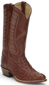 Tony Lama McCandles Full Quill Ostrich Western Boot - Brandy - Men's Western Boots | Spur Western Wear