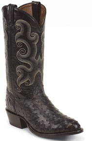Tony Lama Wimberly Stark Full Quill Ostrich Western Boot - Black - Men's Western Boots | Spur Western Wear
