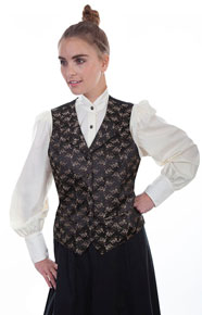 Scully Floral Print Vest - Brown - Ladies Vests And Jackets | Spur Western Wear