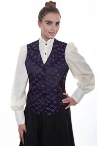 Scully Floral Print Vest - Purple - Ladies Vests And Jackets | Spur Western Wear