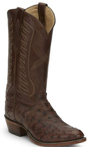 Tony Lama McCandles Full Quill Ostrich Western Boot - Tobacco - Men's Western Boots | Spur Western Wear
