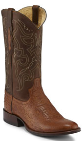 Tony Lama 1911 Patron Smooth Ostrich Western Boot - Saddle - Men's Western Boots | Spur Western Wear