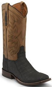 "Tony Lama 1911 Canyon Caiman Western Boot 13"" - Black - Men's Western Boots 