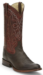 Tony Lama 1911 Patron Smooth Ostrich Western Boot - Bomber Brown - Men's Western Boots | Spur Western Wear