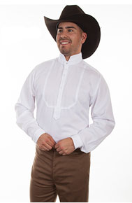 "Frontier Classics ""Dodge City"" Shirt - White - Men's Old West Shirts 