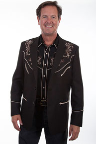 Scully Embroidered Sport Coat - Black - Men's Western Suit Coats, Suit Pants, Sport Coats, Blazers | Spur Western Wear