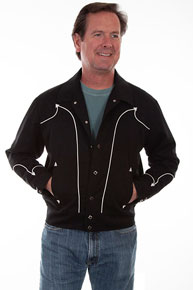 Scully Retro Western Rodeo Jacket - Black - Men's Western Outerwear | Spur Western Wear