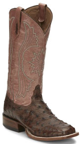 Tony Lama Farron Full Quill Ostrich Western Boot - Tobacco - Ladies' Western Boots | Spur Western Wear