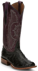 Tony Lama Farron Full Quill Ostrich Western Boot - Black - Ladies' Western Boots | Spur Western Wear