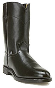 Justin Basics Temple Roper Boot - Black - Men's Western Boots | Spur Western Wear