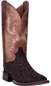 Dan Post Stark Smooth Ostrich Western Boot - Walnut - Men's Western Boots | Spur Western Wear
