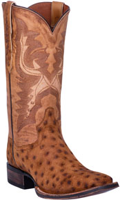 Dan Post Stark Smooth Ostrich Western Boot - Bay Apache - Men's Western Boots | Spur Western Wear