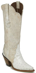 Justin Chelsea Pearl Wide Full Quill Ostrich Western Boot - Ladies' Western Boots | Spur Western Wear