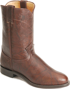 Justin Classics Jackson Roper Western Boot - Chestnut - Men's Western Boots | Spur Western Wear
