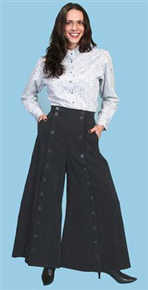 Scully Brushed Twill Riding Skirt - Black - Ladies' Old West Skirts and Pants | Spur Western Wear