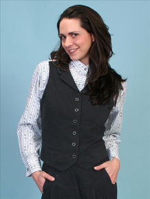 Scully Brushed Twill Vest - Black - Ladies Vests and Jackets | Spur Western Wear