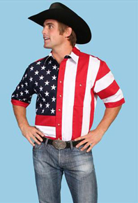Scully Patriotic Short Sleeve Western Shirt - Men's Western Shirts | Spur Western Wear