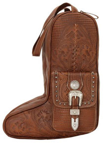 American West Retro Romance Leather Western Boot Bag - Antique Brown - Western Luggage | Spur Western Wear