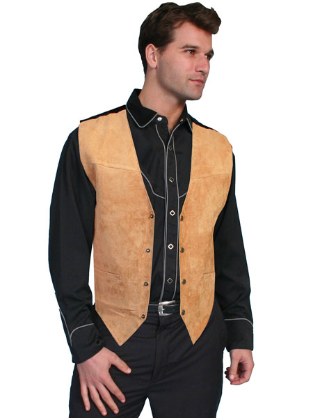 Scully Mens Suede Leather Vest 504-67