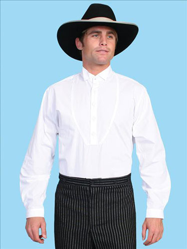 Wah Maker Wing Tip Shirt - White - Men's Old West Shirts | Spur Western Wear