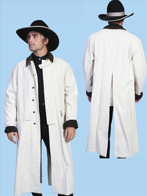 Scully Canvas Duster - Natural - Men's Frock Coats and Dusters | Spur Western Wear