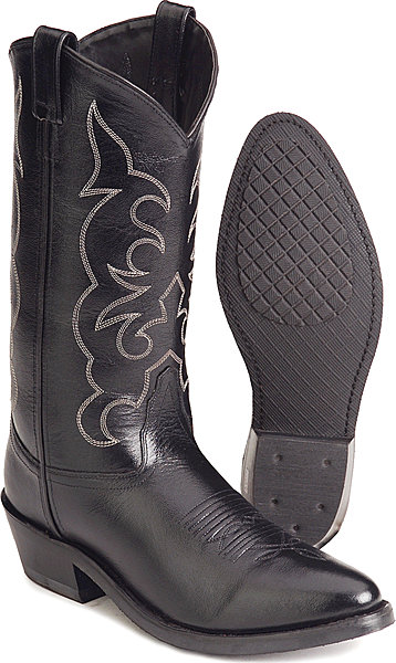 Jama Old West Trucker's Western Boot - Black - Men's Western Boots | Spur Western Wear