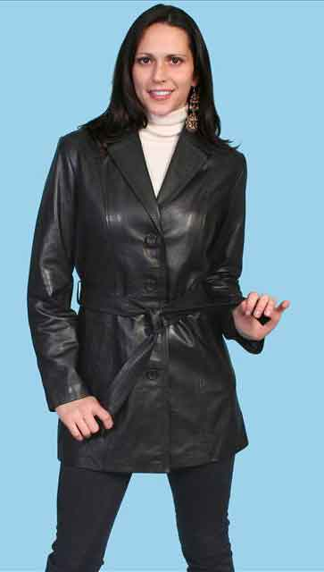 Scully Lambskin Leather Jacket - Black - Ladies - Ladies Leather Jackets | Spur Western Wear
