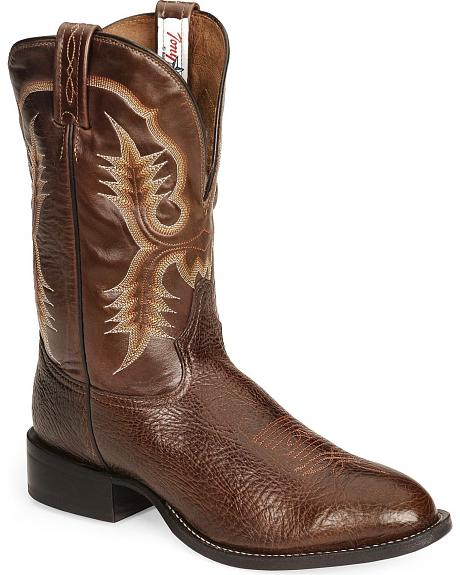 Tony Lama Vasco Shrunken Shoulder Western Boot - Chocolate