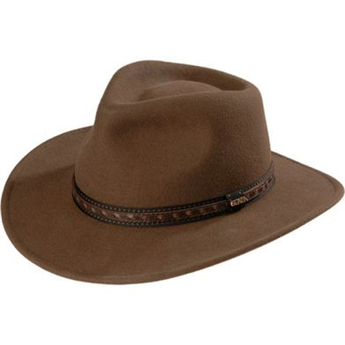Scala Crushable Wool Outback Hat - Khaki - Cowboy Hats | Spur Western Wear