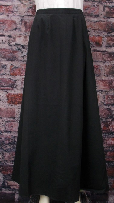 Frontier Classics Cotton Twill Walking Skirt - Black - Ladies' Old West Skirts and Dresses | Spur Western Wear