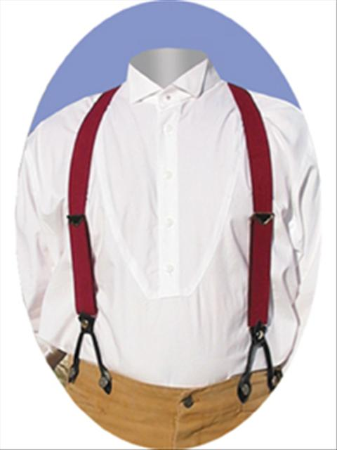 Scully Suspenders - Burgundy - Old West Clothing | Spur Western Wear