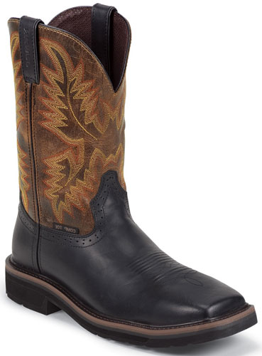 Justin Stampede Driller Composition Toe Work Boot Black