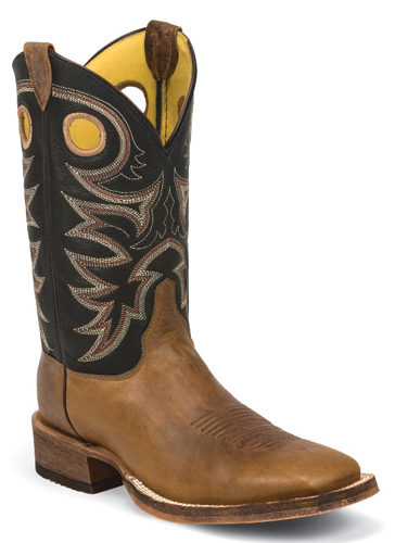 Justin Bent Rail Caddo Western Boot - Brown
