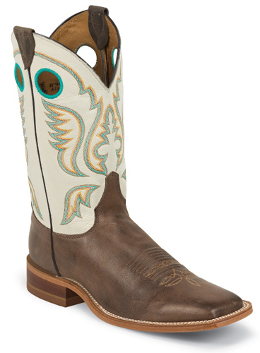 Justin Bent Rail Austin Western Boot - White