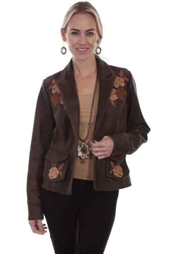 Scully Leather Blazer - Bourbon - Ladies Leather Jackets | Spur Western Wear