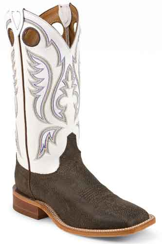 Justin Bent Rail Austin Western Boot - Dark Brown