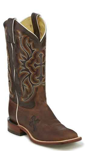 Tony Lama San Saba Lashka Western Boot - Brown - Ladies' Western Boots | Spur Western Wear