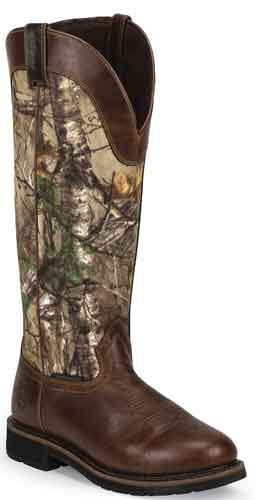 Justin Stampede Fielder Work Boot - Camo