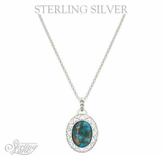 Montana Silversmiths® Sterling Lane Sun Dance Turquoise Necklace - Western Jewelry | Spur Western Wear
