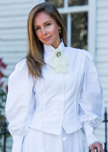 Frontier Classics Old West Blouse With Lace - White - Ladies' Old West Clothing | Spur Western Wear