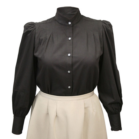 Frontier Classics Victoria Blouse - Black - Ladies' Old West Blouses | Spur Western Wear