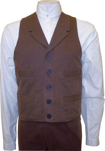 Frontier Classics  Gunfighter Vest -  brown, Men's Old West Vests and Jackets | Spur Western Wear