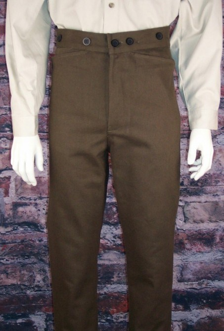 Frontier Classics Gunfighter Pant - rown - Men's Old West Pants | Spur Western Wear