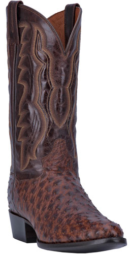 Dan Post Pershing Full Quill Ostrich Western Boot - Brass - Men's Western Boots | Spur Western Wear