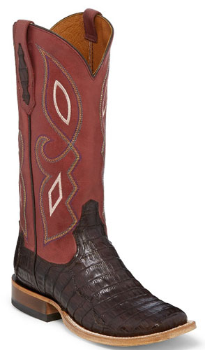 Tony Lama 1911 Leighton Caiman Western Boot - Chocolate - Ladies' Western Boots | Spur Western Wear